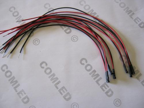 5x mini led 3528 alto brilho montado pronto p/ ligar em 12v