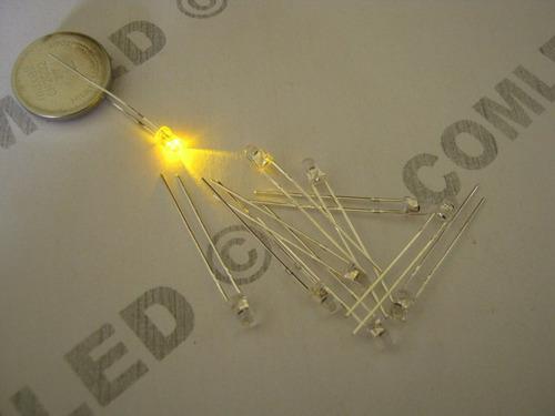 5x mini led 3mm alto brilho amarelo flameja vela tocha fogo