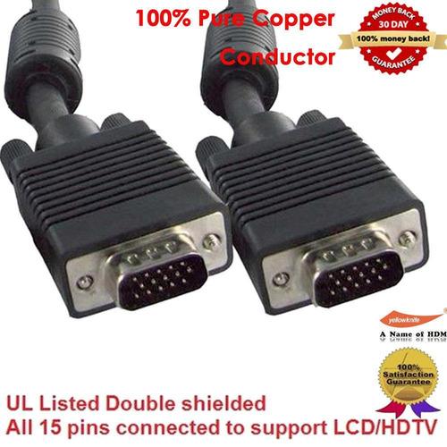 5x pieces - svga super vga monitor cable m masculino la-3959