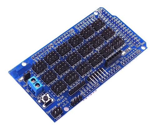 5x shield sensor mega v2.0 placa expansão v2 arduino servo