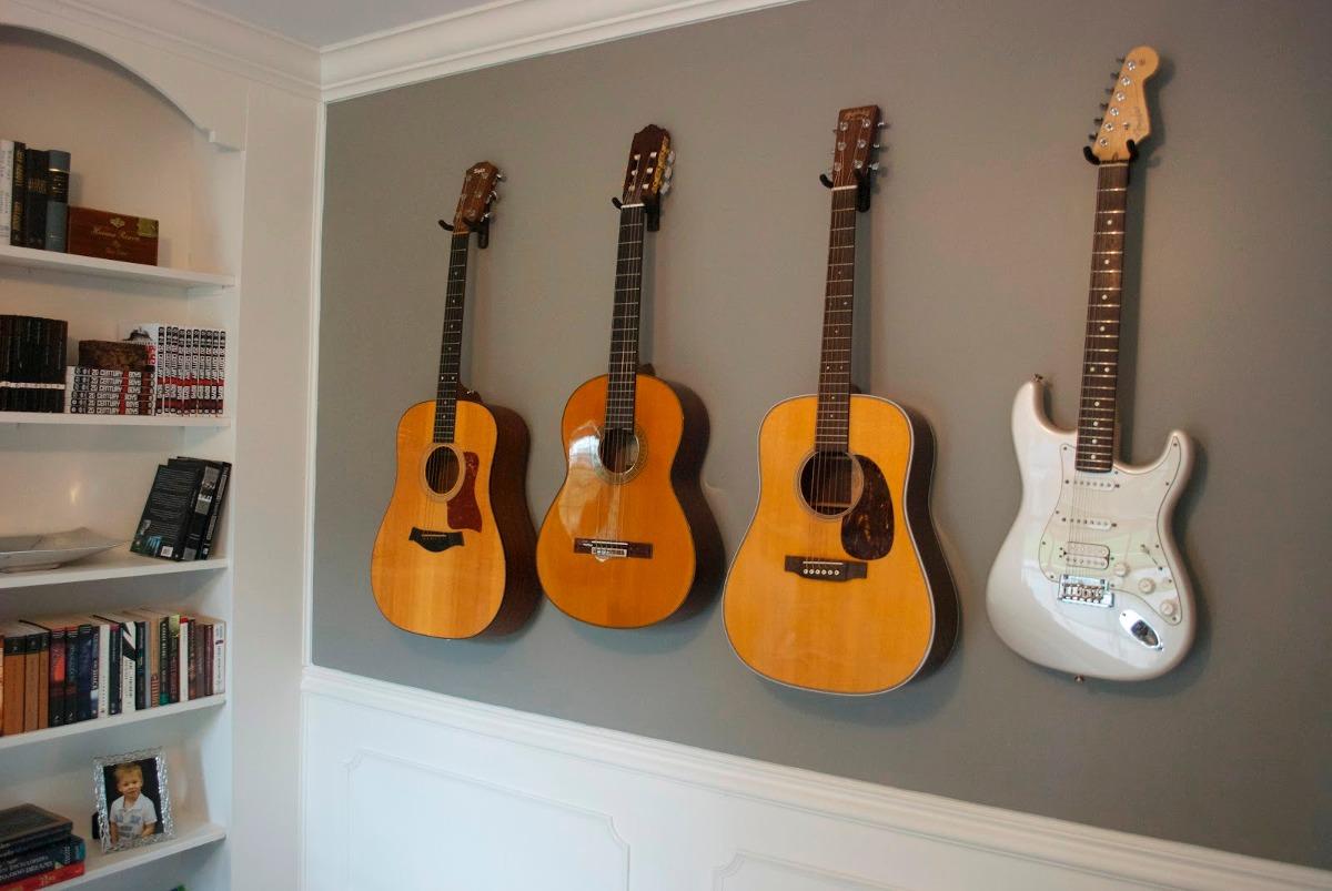 5x Suporte Parede Emborrachado Guitarra Viol 227 O Baixo