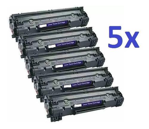 5x toner compatível hp ce285a cb435a p/ p1102 m1132 e outras
