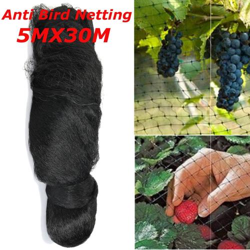 5x30m anti pássaro rede preta proteger culturas planta fruit