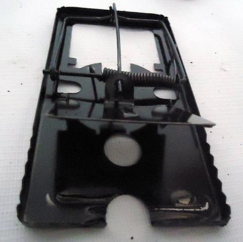 5xtrampa metalica capturador ratones roedores lauchas