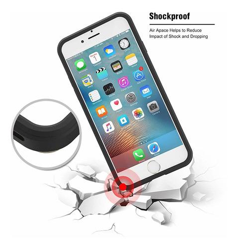 6 / 6s case de iphone uniya pc híbrido + tpu de crédito de