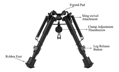 6-9 pulgadas ajustable práctico resorte retorno francotirado
