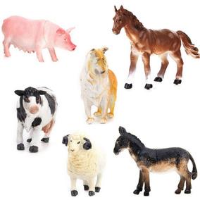 Acción Niños Animales Juguete Figura Cerdo 6 Granja Plástica X08OknPw