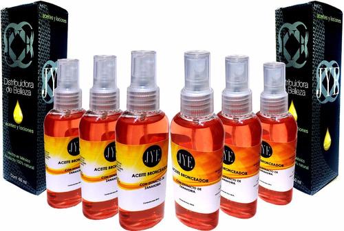 6 aceites jye bronceador con extracto de zanahoria 360ml