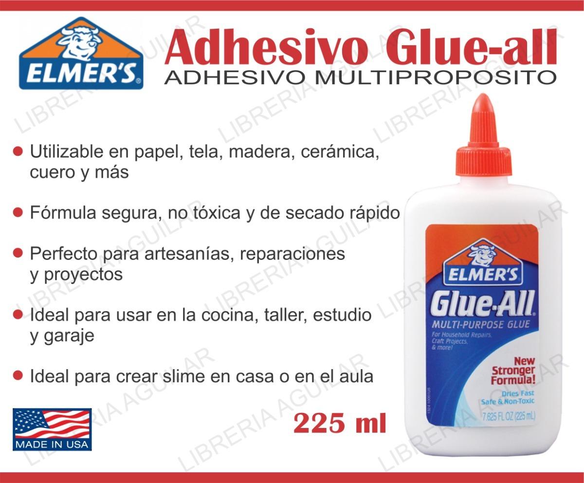6 adhesivos glue all 225ml grande elmers slime. Cargando zoom.