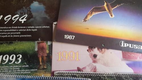6 almanaques calendarios ipusa, lote, fotos