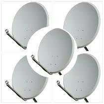 6 antenas 60cm banda ku frete gratis