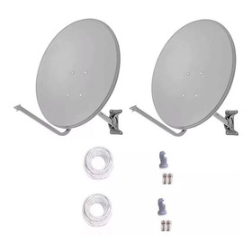 6 Antenas Ku 60cm+ Lnb Duplos+ 100 Metro Cab Rg59 +conector