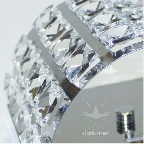 6 arandela cristal legítimo k9 meia lua aço inox st4567