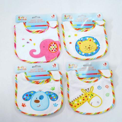 6 baberos tri-capa bebes nene y nena  por mayor