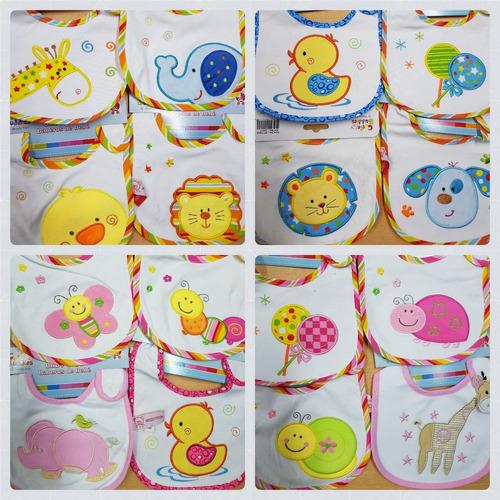 6 baberos tri-capa + variedad bebes nene y nena  por mayor