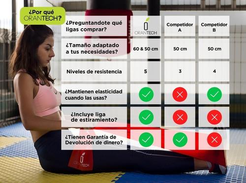 6 bandas ligas de resistencia ejercicio yoga fit crossfit