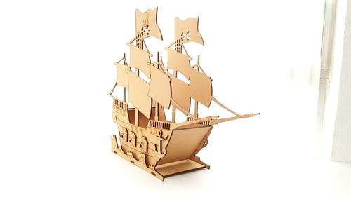 6 barcos pirata centro de mesa para fiestas