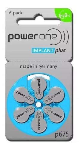6 bat. powerone implantplus implante coclear. validade:02/18