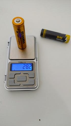 6 bateria lítio recarregável lanterna tática original bmax