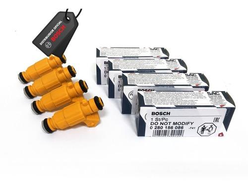 6 - bicos injetor original bosch 0280156086 gm astra flex