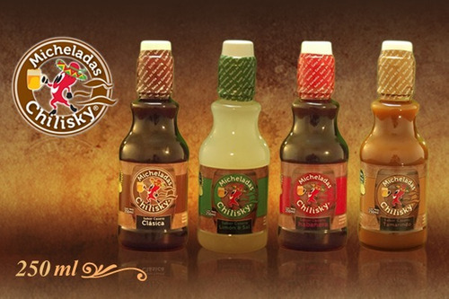 6 botellas de michelada chilisky de 250 ml c/u