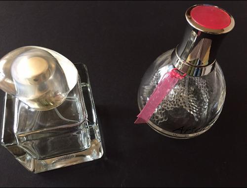 6 botellas de perfume dior, perry ellis, givenchy. etc.