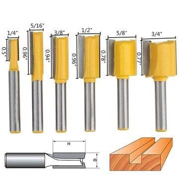 6 brocas para router madera 1/4pulgada envío gratis