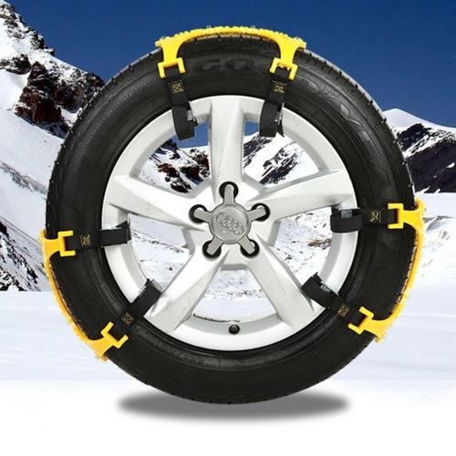 6 cadena para vehiculo pcs neumatico nieve antideslizante