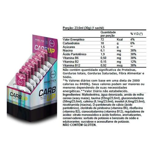 6 caixas carb up gel 10un/30g - probiótica promoção atacado
