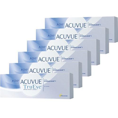 24f8eeb74787c 6 Caixas Lentes De Contato 1-day Acuvue Tru Eye Melhor Preço - R ...