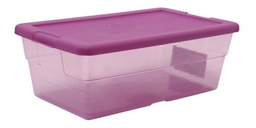 6 cajas / contenedores  multiusos  5.7l  34.6x21x12.4 cm