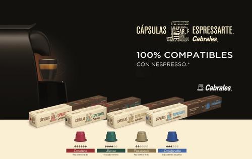 6  cajas de capsulas cabrales para nespresso