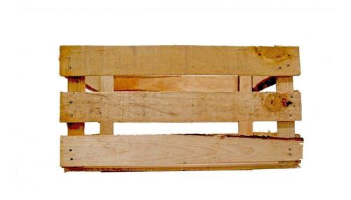 6 cajas huacal de madera de pino 48x33x25  lijadas natural