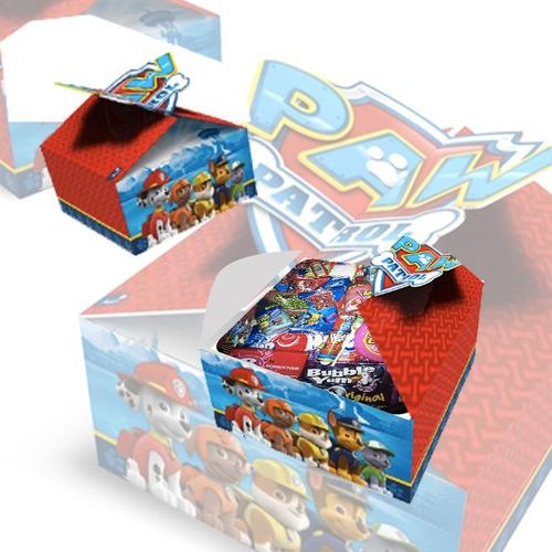 6 cajas sorpresa paw patrol fiestaclub