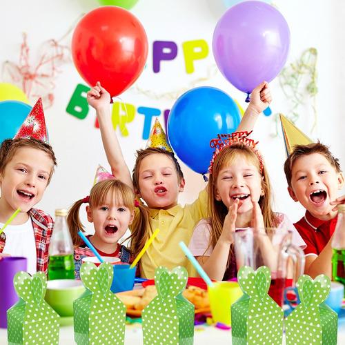 6 cajas verde sorpresa para cumpleaños fiestaclub