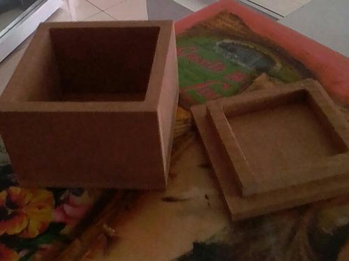 6 cajitas mdf 4*4*4 cm prelijadas tapa lisa..son 6 cajas