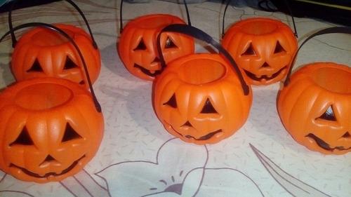 6 calabaza mini cesta halloween decoracion fiesta en oferta