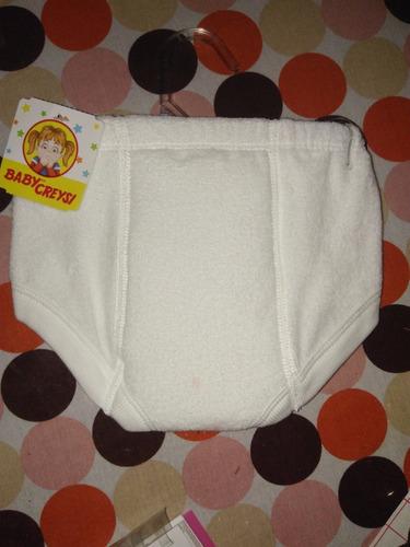 6 calzones entrenadores  toalla, baby creysi, envío gratis