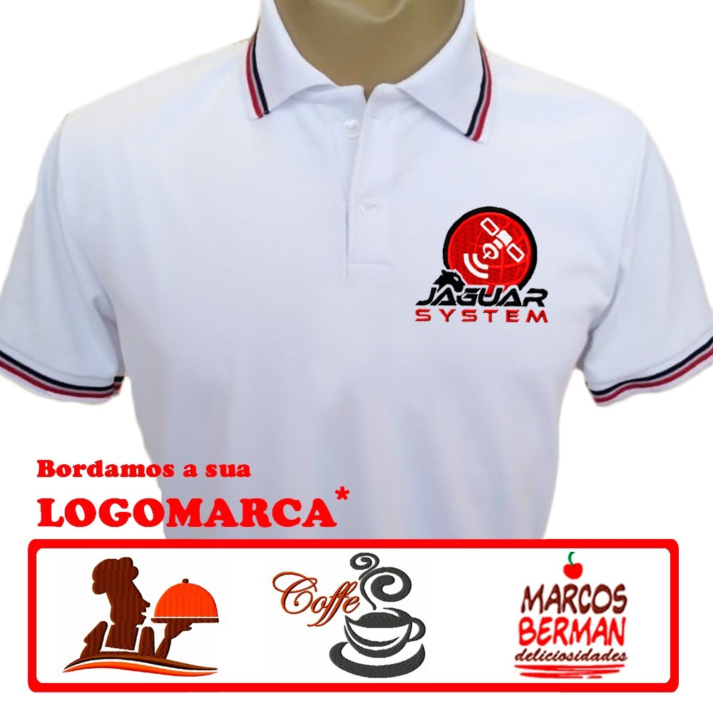 8f80d1ed09ea3 6 camisas uniforme com logomarca bordada grátis. Carregando zoom.