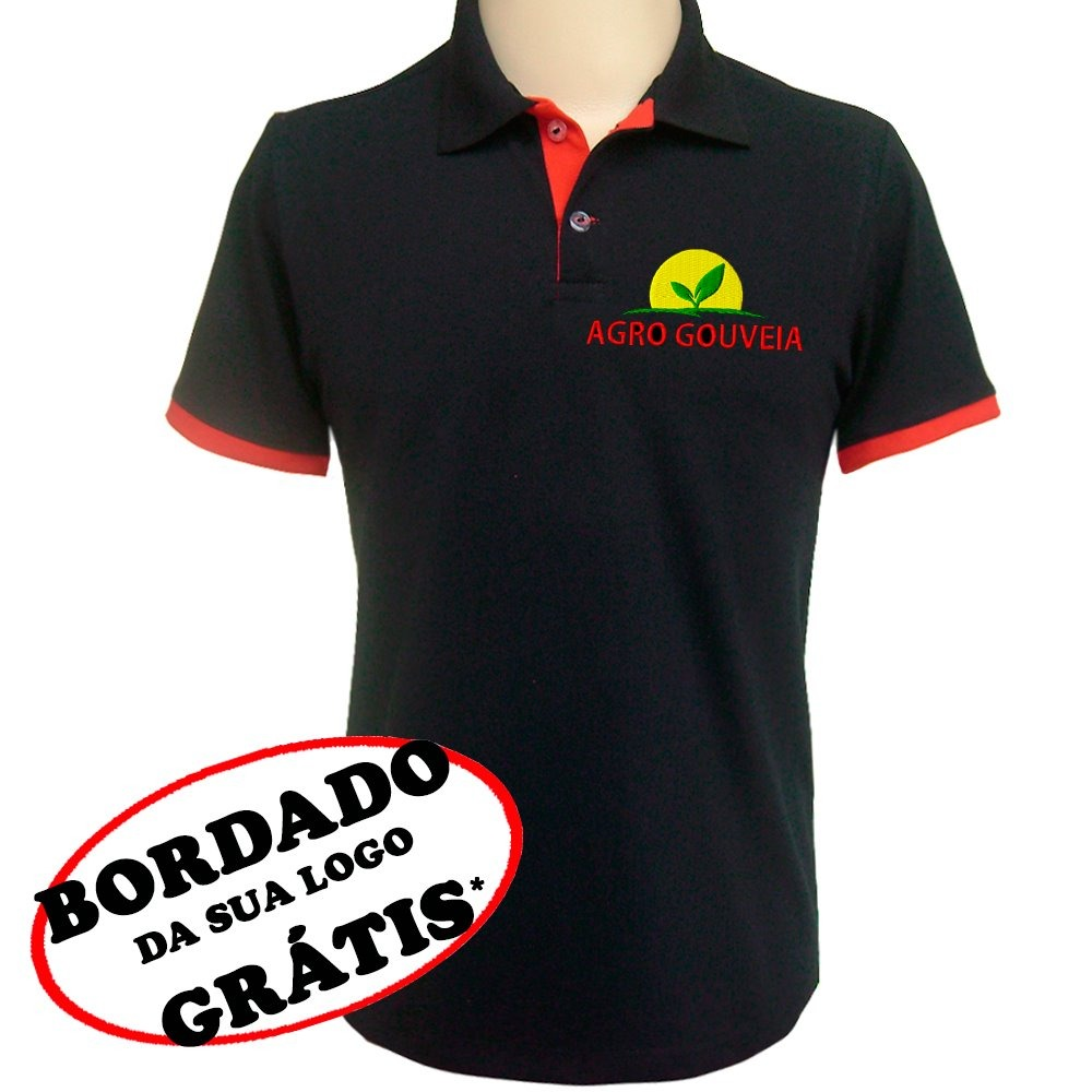 c4897316e6 6 Camisas Uniforme Personalizado Para Empresa E Comércio. - R  221 ...