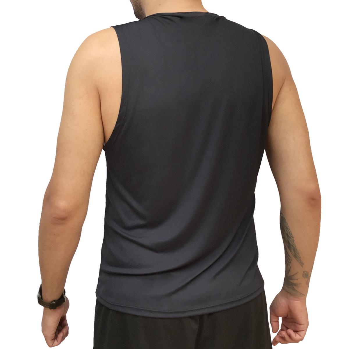 07dc0a4e5f134 6 camisetas regata masculina dry fit 100% poliamida fitness. Carregando zoom .