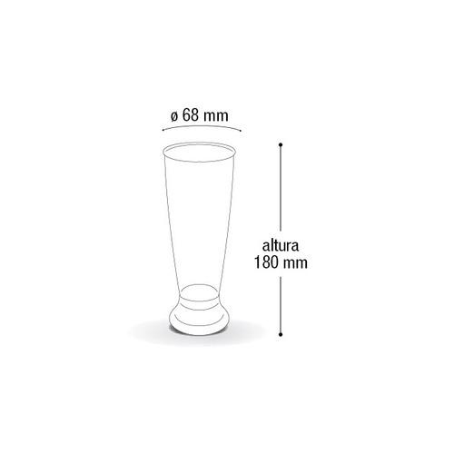 6 caneca chopp 300ml acrilica - resistente e lindos cerveja
