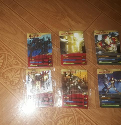 6 cards homem de ferro 3 (lacrados)