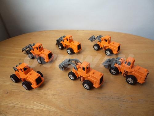 6 carritos de construcción a escala maquinaria plástico ce2