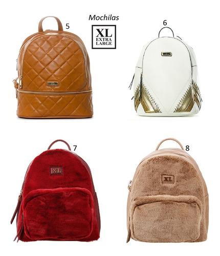 6 carteras mochilas bandoleras combo x mayor prune xl