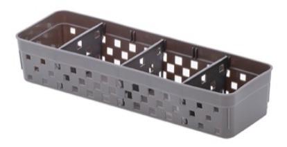 6 cesto organizador com divisória quadratta paramount