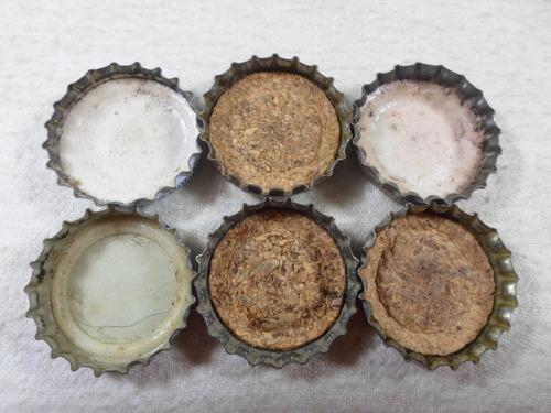 6 chapitas pepsi cola raras ( e269)