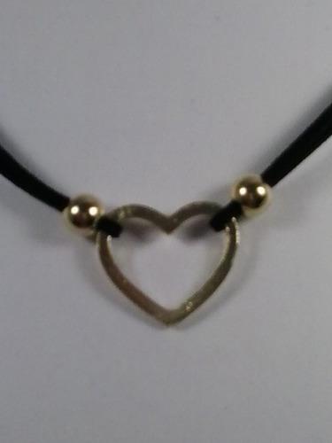 6 colares chocker gargantilha coração super barato