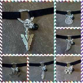 4a31fb56d83a Collar Choker Negro Grueso - Cadenas y Collares Metal en Mercado Libre  Argentina