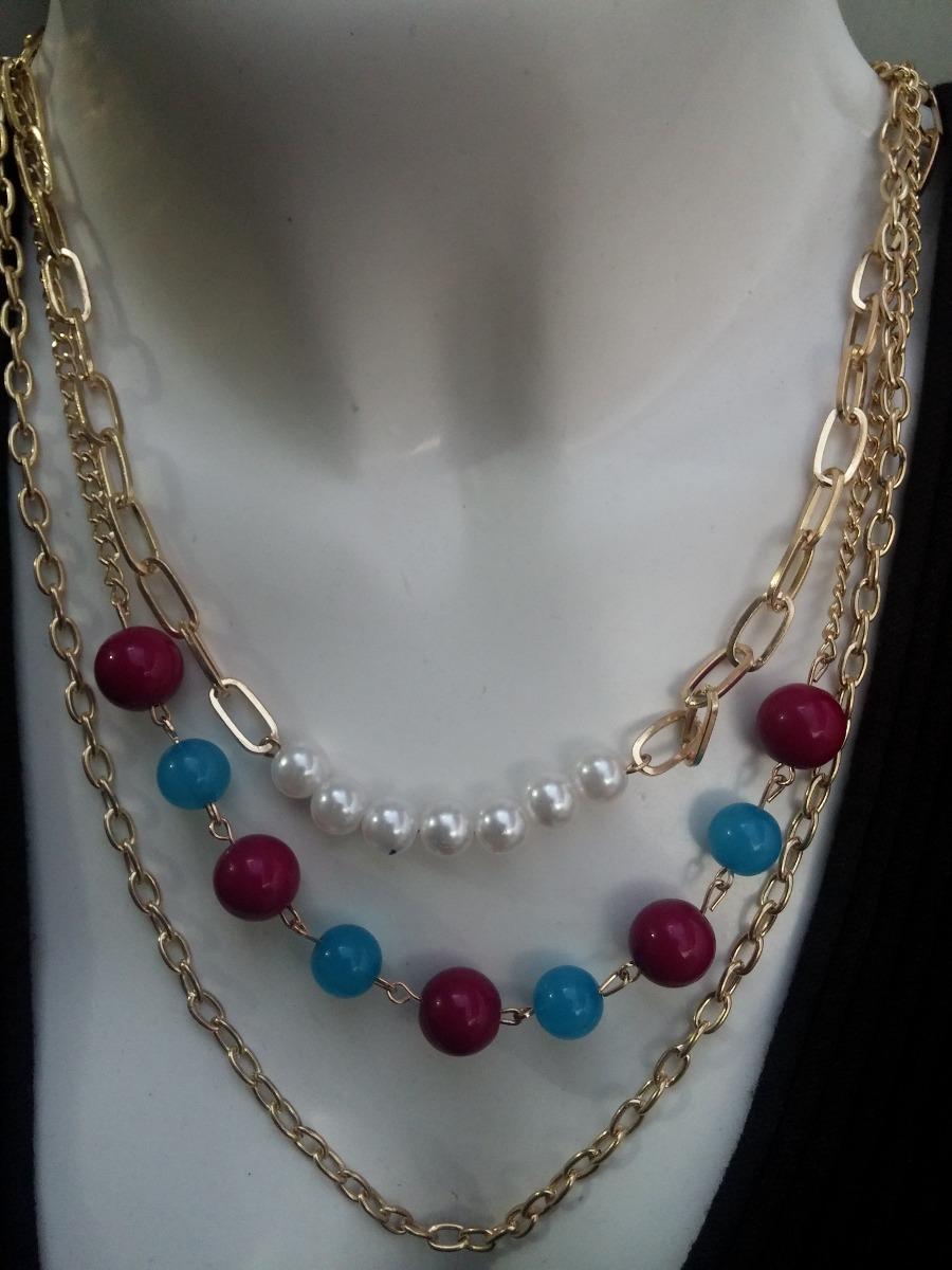 6 Collares Gargantilla Y Aretes Cristal De Moda 285 00
